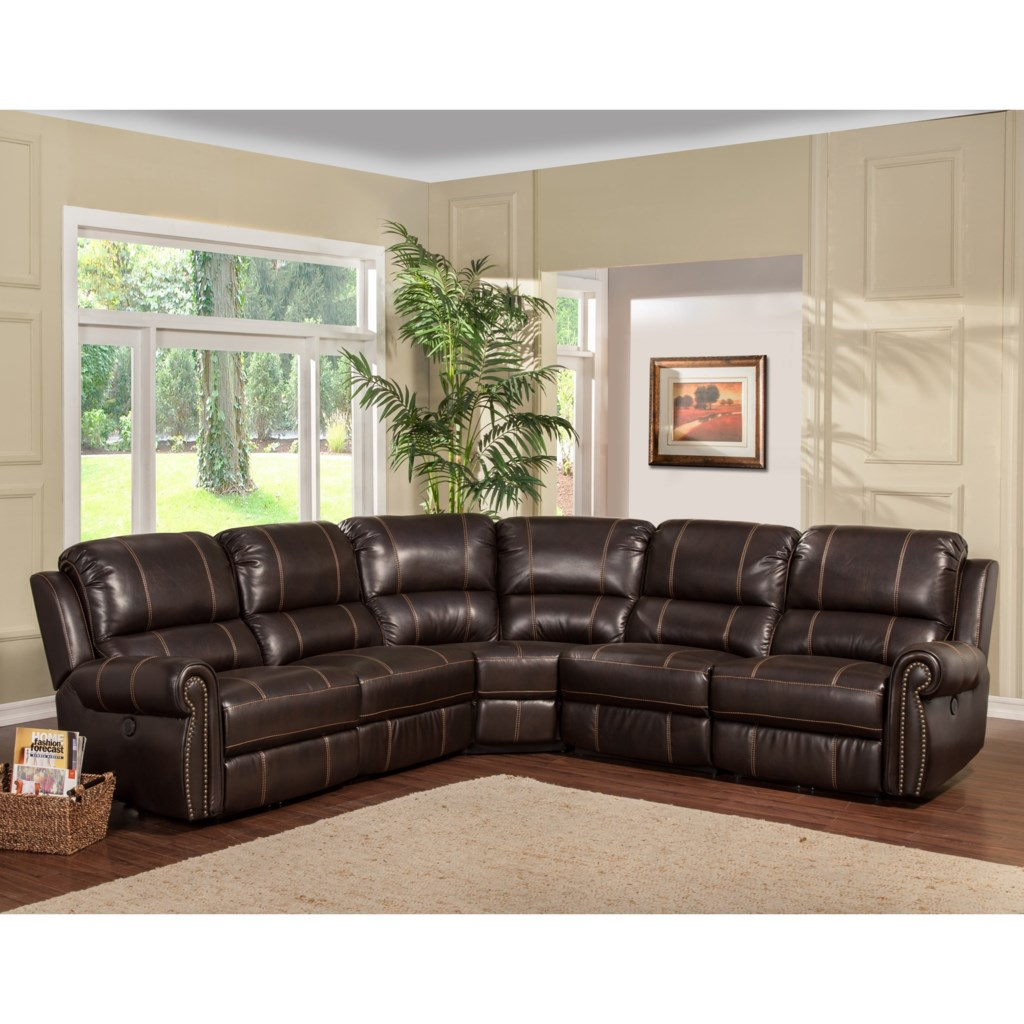 Parker Living Webber Traditional Sectional Sofa With Reclining Arm  ~ Nailhead Trim Sectional Sofa