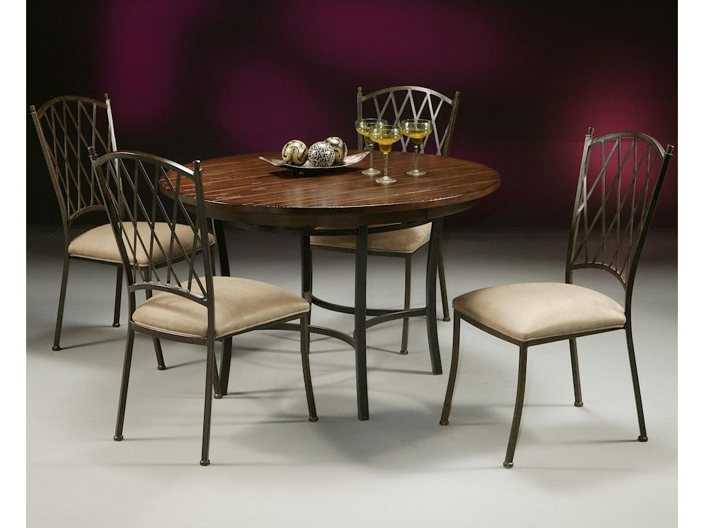 Pastel Minson AtriumMetal & Wood Round Table