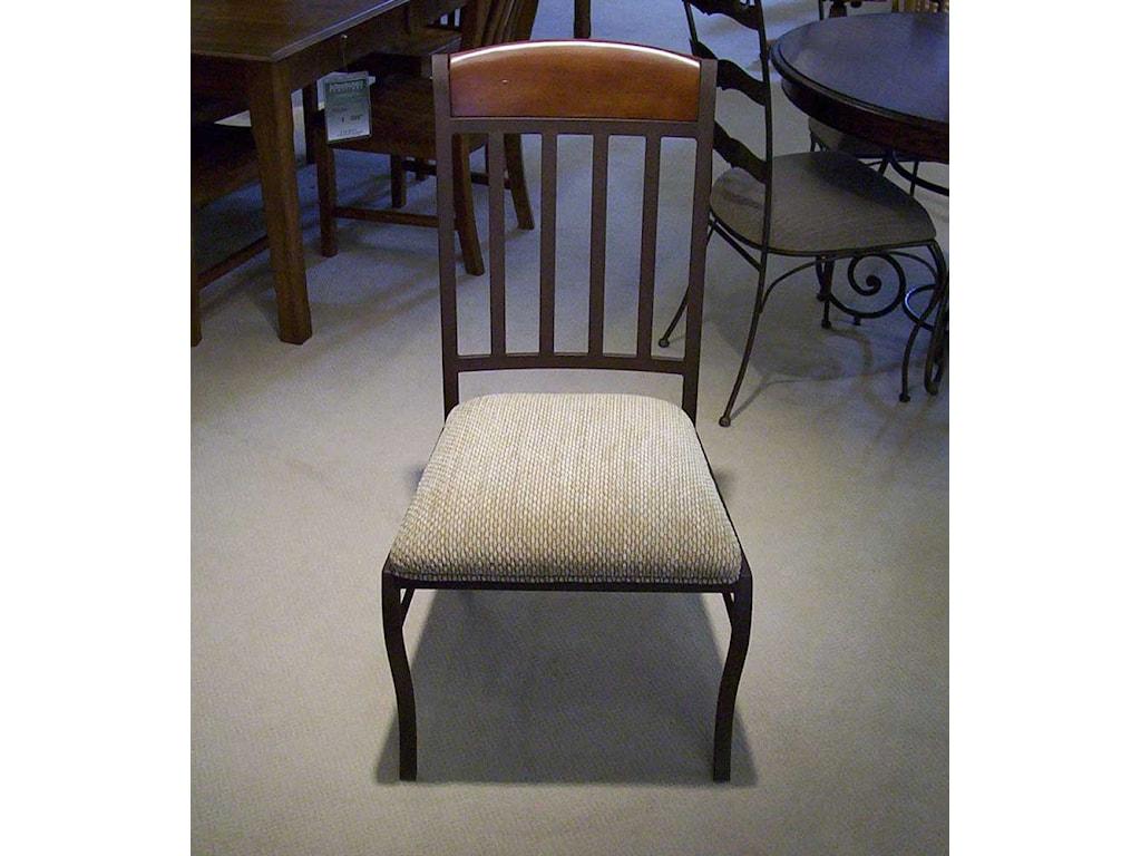 Pastel Minson MontereyUpholstered Metal Side Chair
