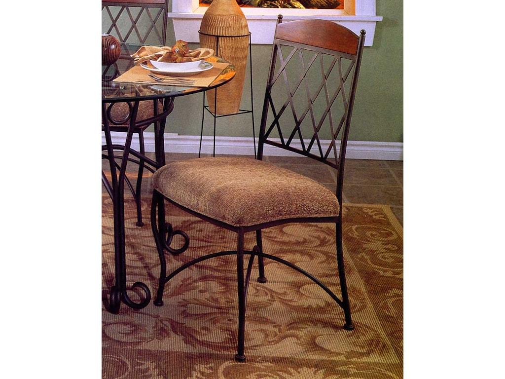 Pastel Minson Napa RidgeUpholstered Metal Side Chair