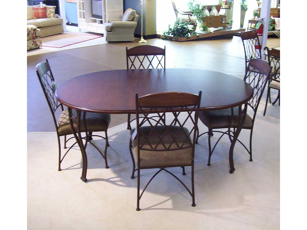 Pastel Minson Napa RidgeOval Table and 4 Metal Side Chairs
