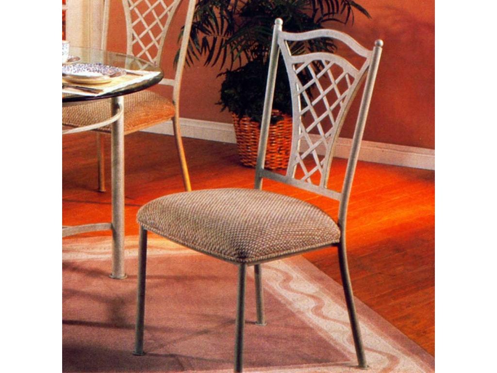Pastel Minson WaverlyLattice Back Metal Side Chair