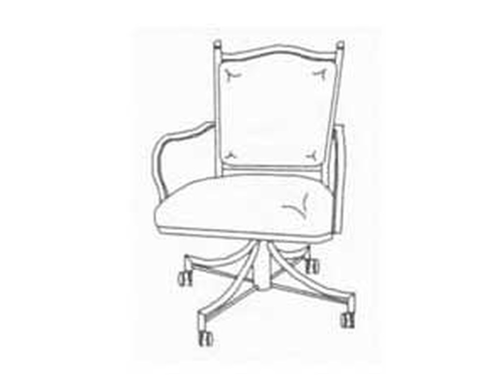 Pastel Minson WaverlyUpholstered Back Caster Chair