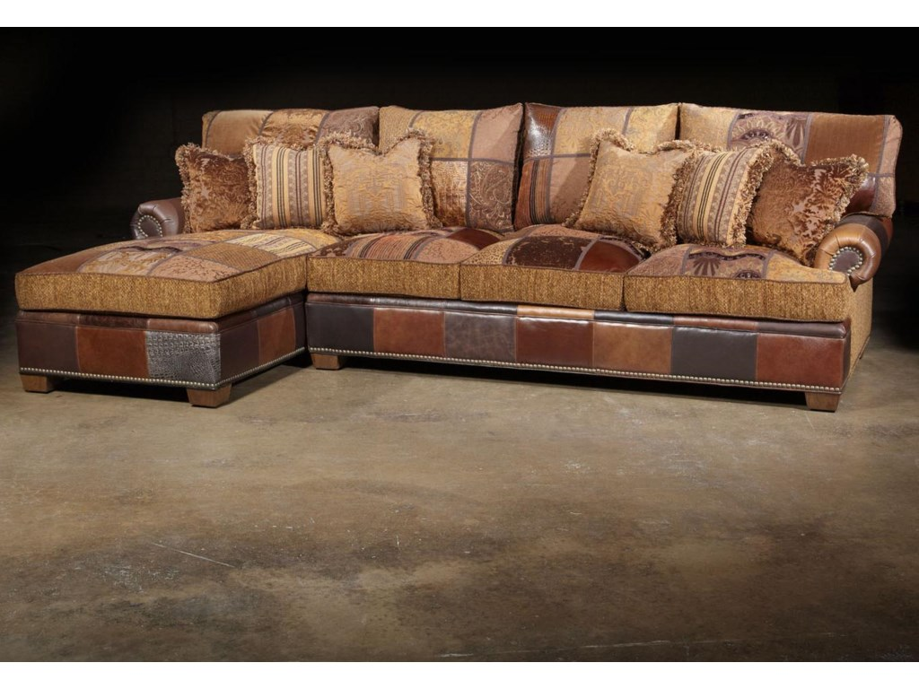 Choices patched western sectional sofa in traditional furniture style by paul robert