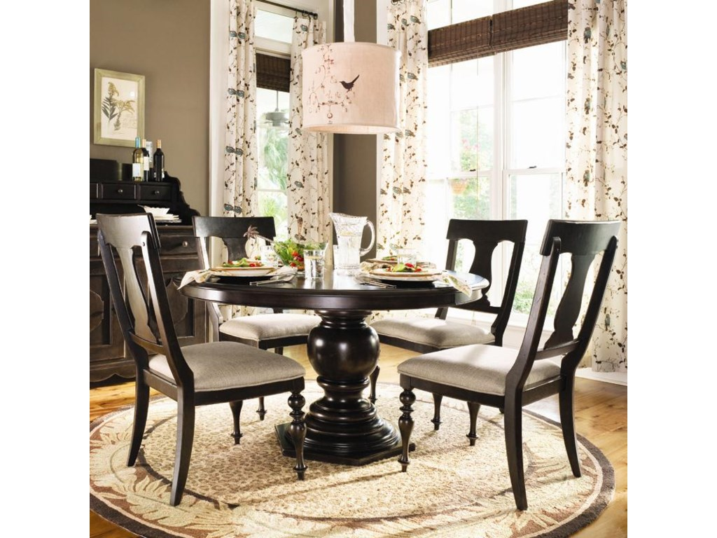Paula Deen By Universal Home Round Dining Table W 4 Splat Back