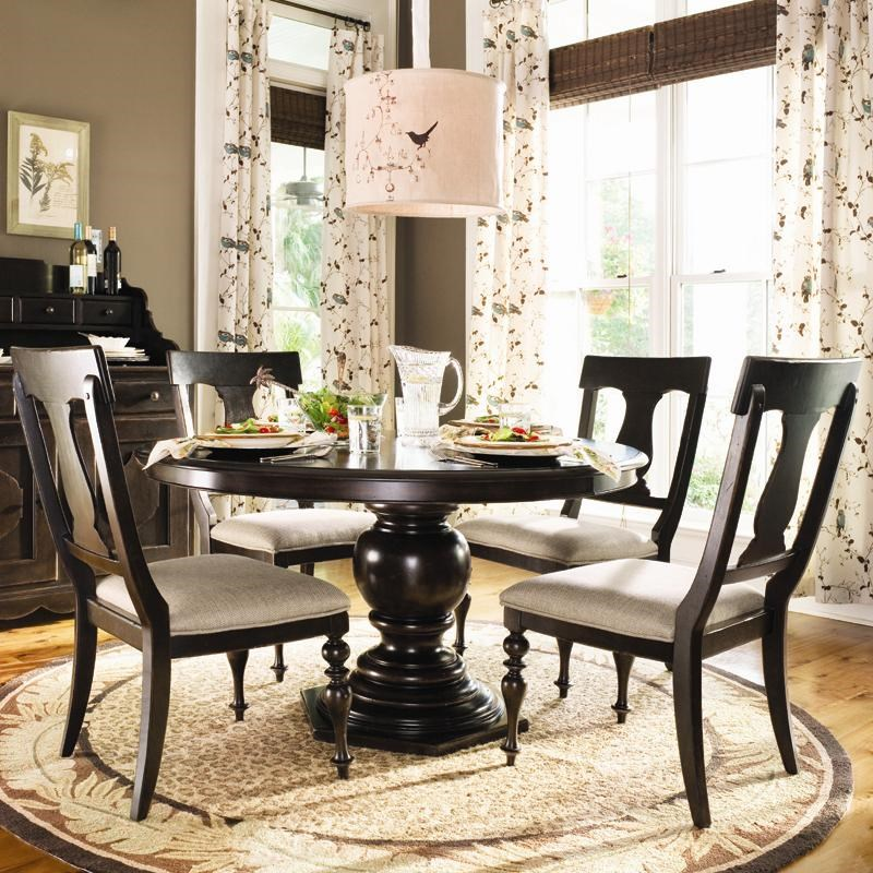 Charmant Paula Deen By Universal Paula Deen HomeRound Dining Table W/ 4 Splat Back  Chairs ...
