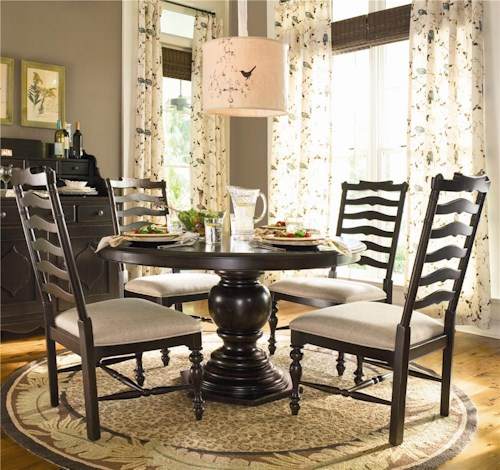Paula Deen by Universal Paula Deen Home Round Dining Table w/ 4 ...