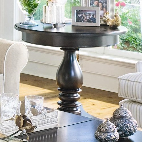 Paula Deen by Universal Paula Deen Home Round Side Table with Turned Pedestal