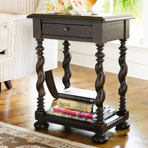 Paula Deen by Universal Paula Deen Home Sweet Tea Side Table With Twisted Legs