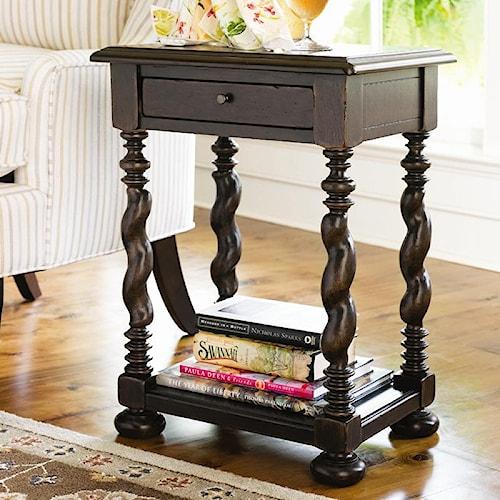 Paula Deen by Universal Paula Deen Home Sweet Tea Side Table With Twisted Legs
