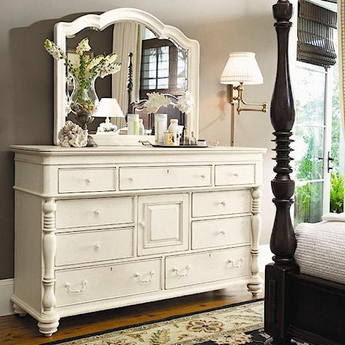 Paula Deen by Universal Paula Deen Home Door Dresser & Decorative Landscape Mirror