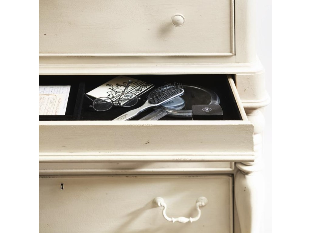 Detail of jewelry storage