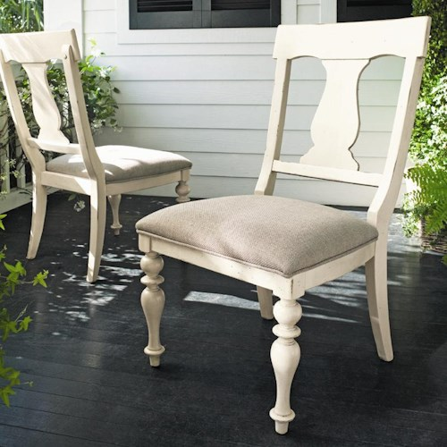Universal Home Paula's Dining Side Chair with Upholstered Seat