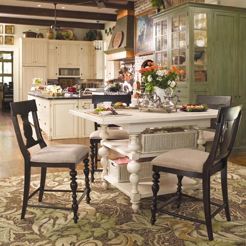 Charming Paula Deen By Universal Paula Deen Home Gathering Table Set W/ 4 Counter  Height Chairs