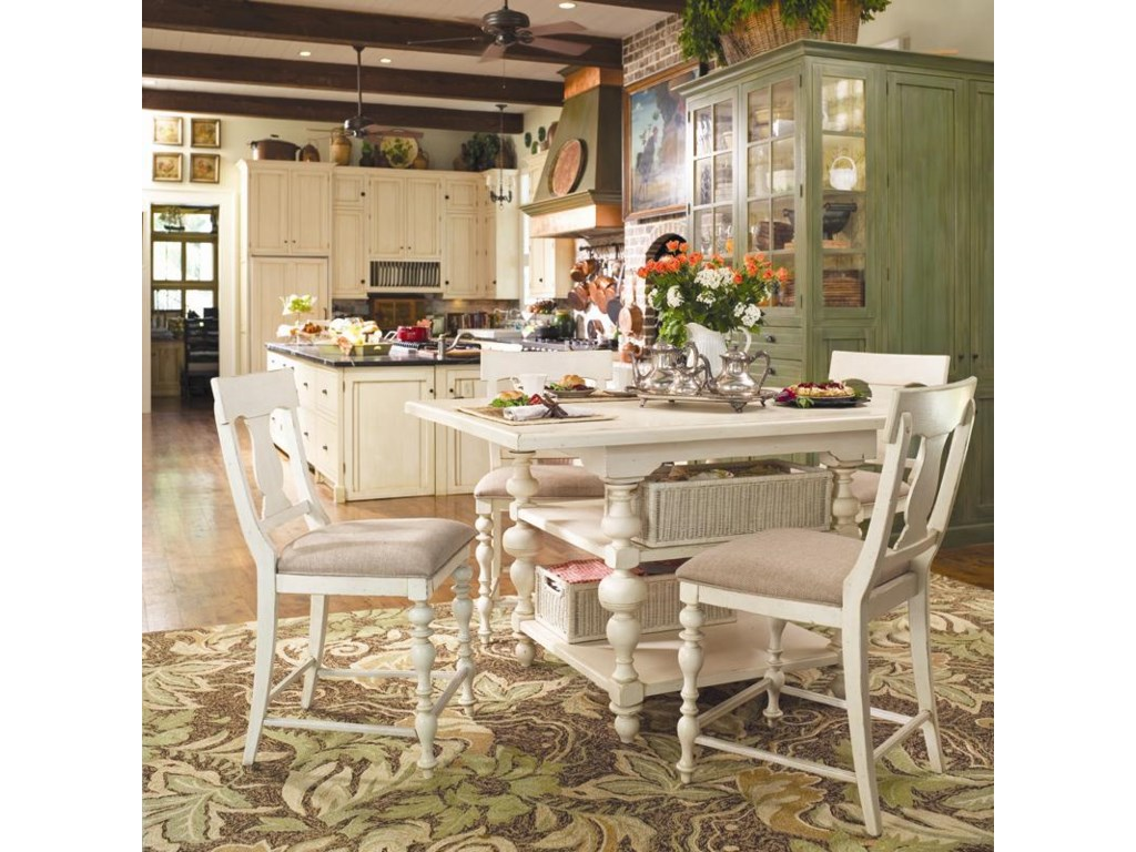 Paula Deen by Universal HomeGathering Table Set w/ 4 Counter Chairs