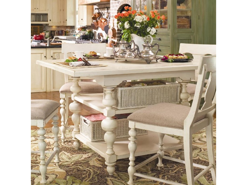 Paula Deen Pinehurst Counter Height Kitchen Gathering Table with ...