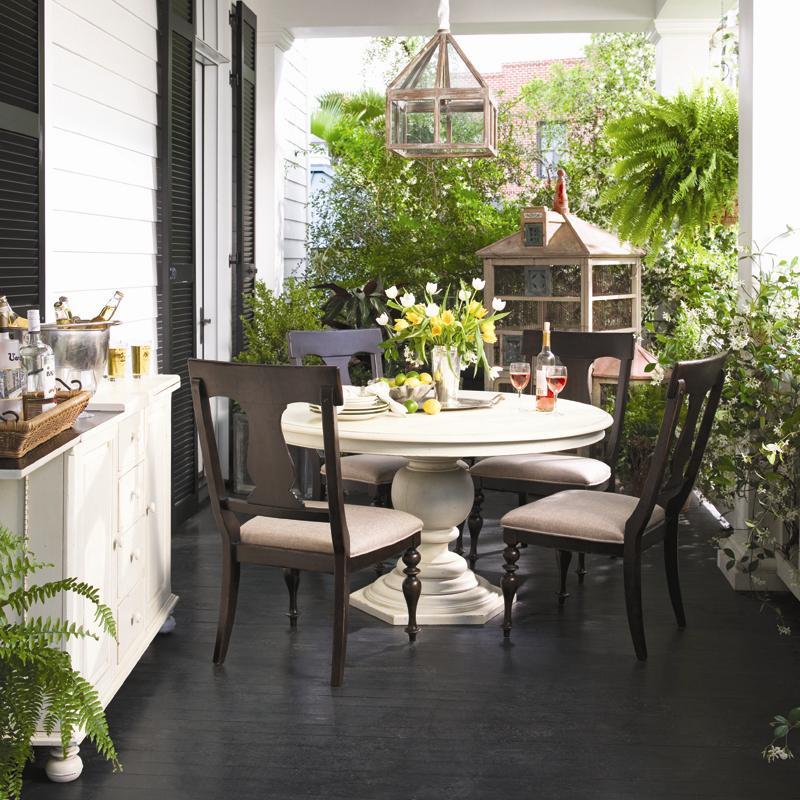 ... Paula Deen By Universal Paula Deen HomeRound Dining Table W/ 4 Splat  Back Chairs