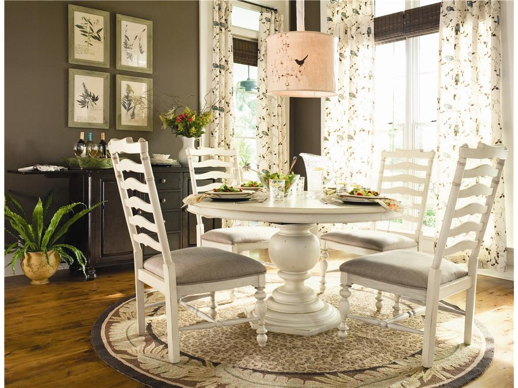 Paula Deen by Universal HomeRound Dining Table w/ 4 Ladder Side Chairs