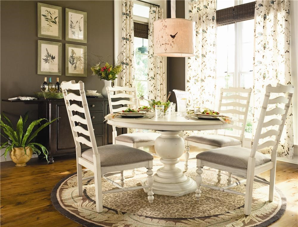 Shown with Captain Mike s Bar. Paula Deen by Universal Home Round Dining Table w  4 Ladder Back
