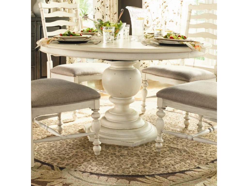 Home Round Pedestal Table By Paula Deen By Universal At Baer S Furniture