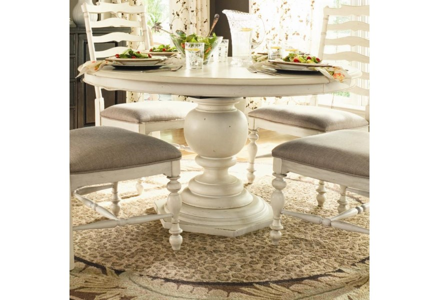 Home Round Pedestal Table by Paula Deen by Universal at Baer\'s Furniture