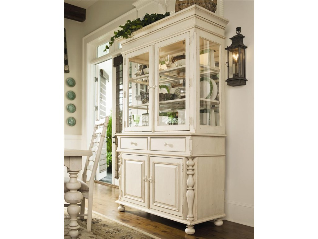 Paula Deen By Universal HomeChina Cabinet Shown With Table Set