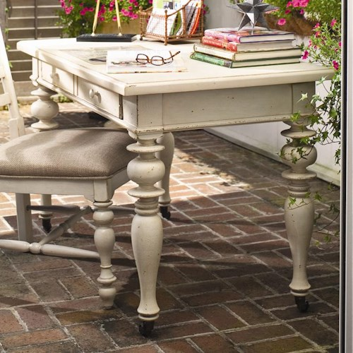 Paula Deen by Universal Paula Deen Home Recipe Writing Desk with Drop Down Drawer and Caster Wheels