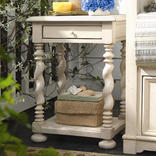 Universal Home Sweet Tea Side Table With Twisted Legs