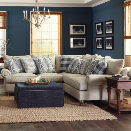 2-Piece Sectional Sofa w/ RAF Return Sofa