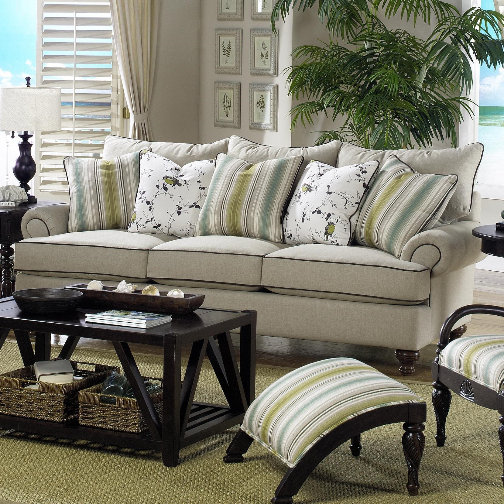 Paula Deen By Craftmaster P711700Traditional Stationary Sofa ...