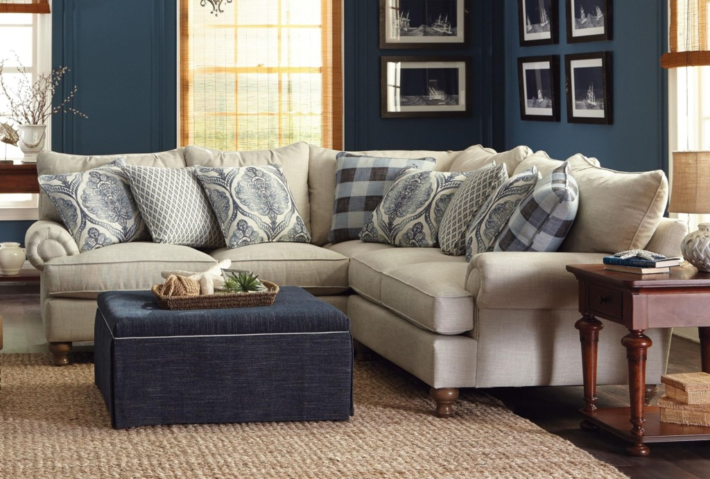Paula Deen By Craftmaster P711700 2 Piece Sectional Sofa With Rolled