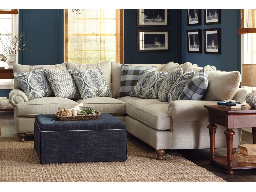 Paula Deen by Craftmaster P711700 2-Piece Sectional Sofa with ...