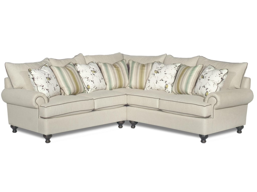 Paula Deen by Craftmaster P711700 2-Piece Sectional Sofa with Rolled ...