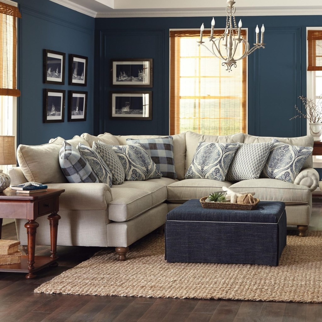 paula deen by craftmaster p711700 2 piece sectional sofa with