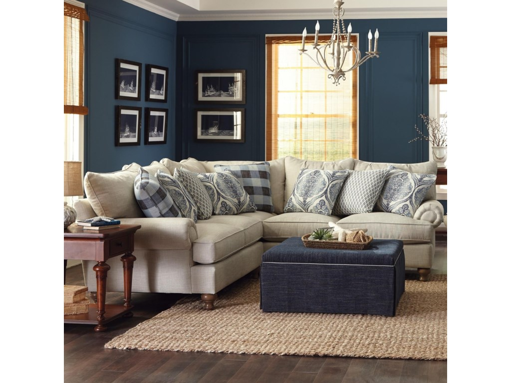 Paula Deen By Craftmaster P7117002 Piece Sectional Sofa