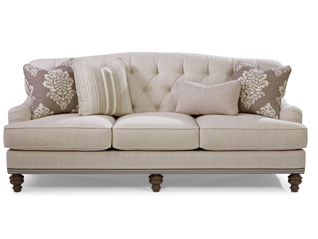 Paula Deen by Craftmaster P744900 Traditional Tufted Back Sofa with ...