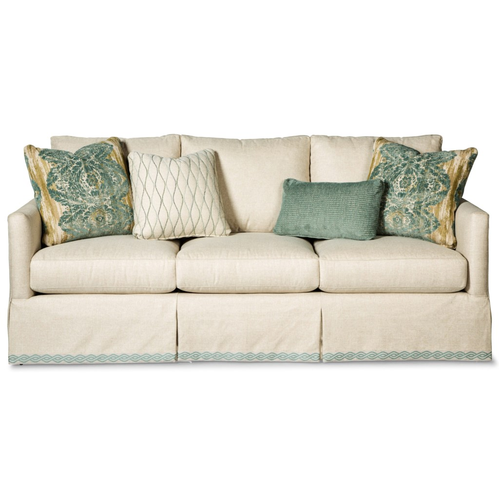Paula Deen By Craftmaster P762800 Skirted Sofa With Ribbon Trim - Miskelly  Furniture - Sofas