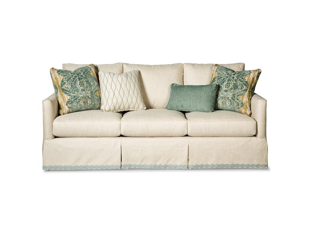 Paula Deen by Craftmaster P762800 P762850BD Skirted Sofa with Ribbon ...