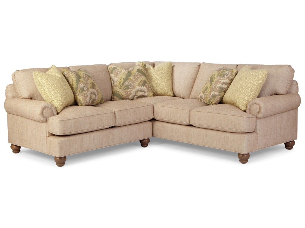 Paula Deen by Craftmaster P9 Custom UpholsteryCustomizable 2 Pc Sectional Sofa w/ LAF Love
