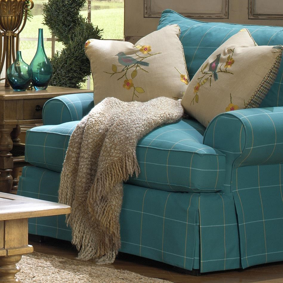 Paula Deen By Craftmaster P997000 Chair And A Half With Flared Back Cushion