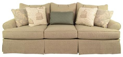 Paula Deen By Craftmaster P997000 Loose Pillow Back Sofa With Skirt