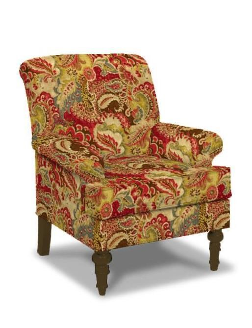Elegant Paula Deen By Craftmaster Upholstered Chairs Traditional Chair With English  Arms And Turned Legs
