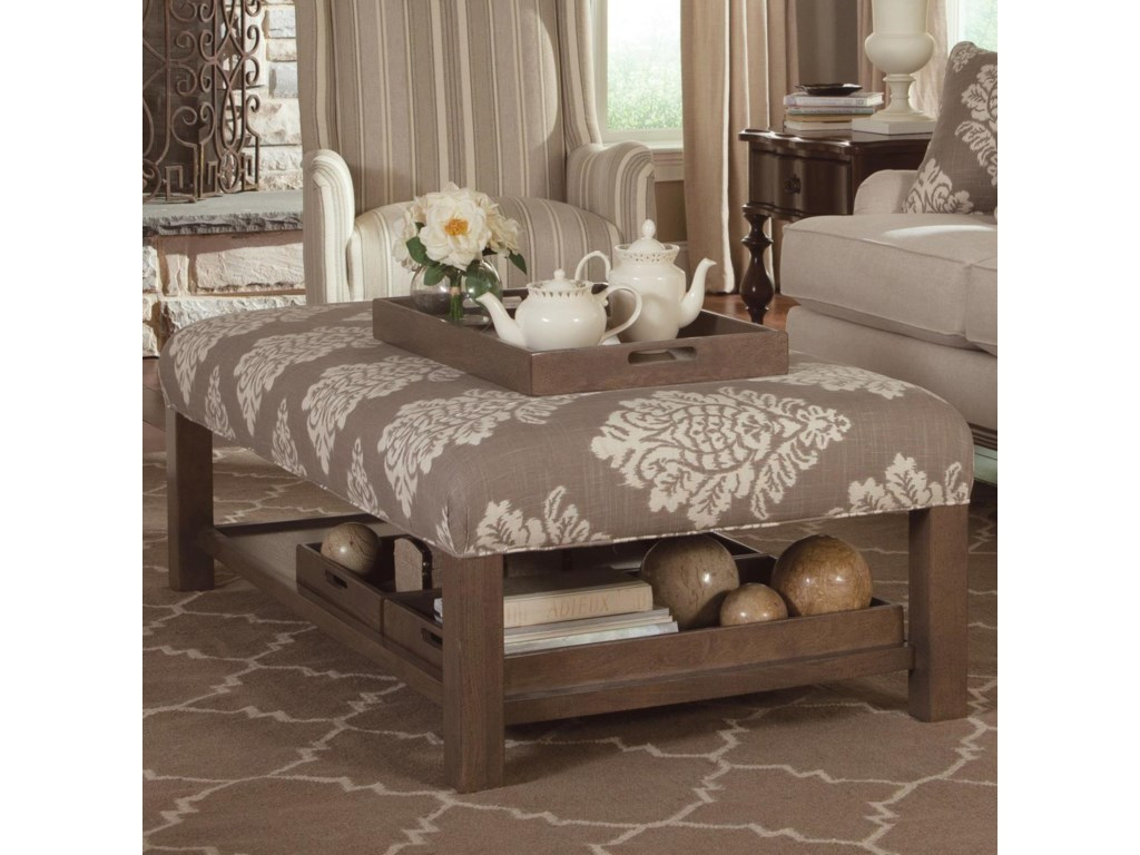 Paula Deen by Craftmaster Paula Deen Upholstered AccentsStorage Bench Ottoman with Tray Storage