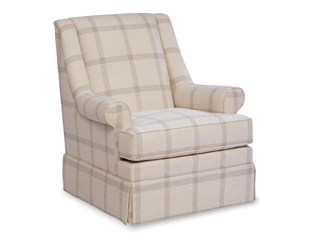 Paula Deen by Craftmaster Paula Deen Upholstered AccentsSkirted Swivel Chair