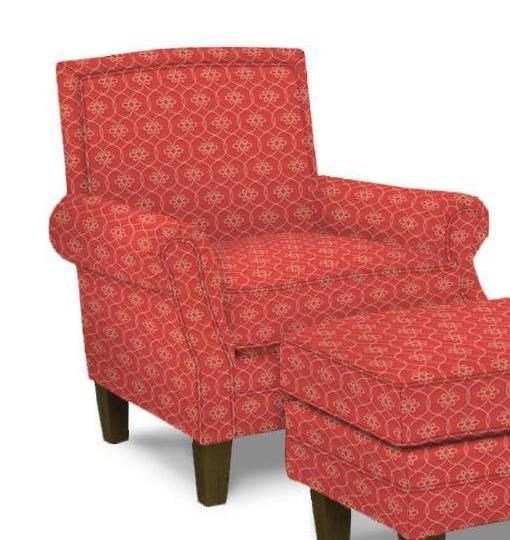 High Quality Paula Deen By Craftmaster Upholstered Chairs Transitional Chair With Rolled  Arms And Tight Back