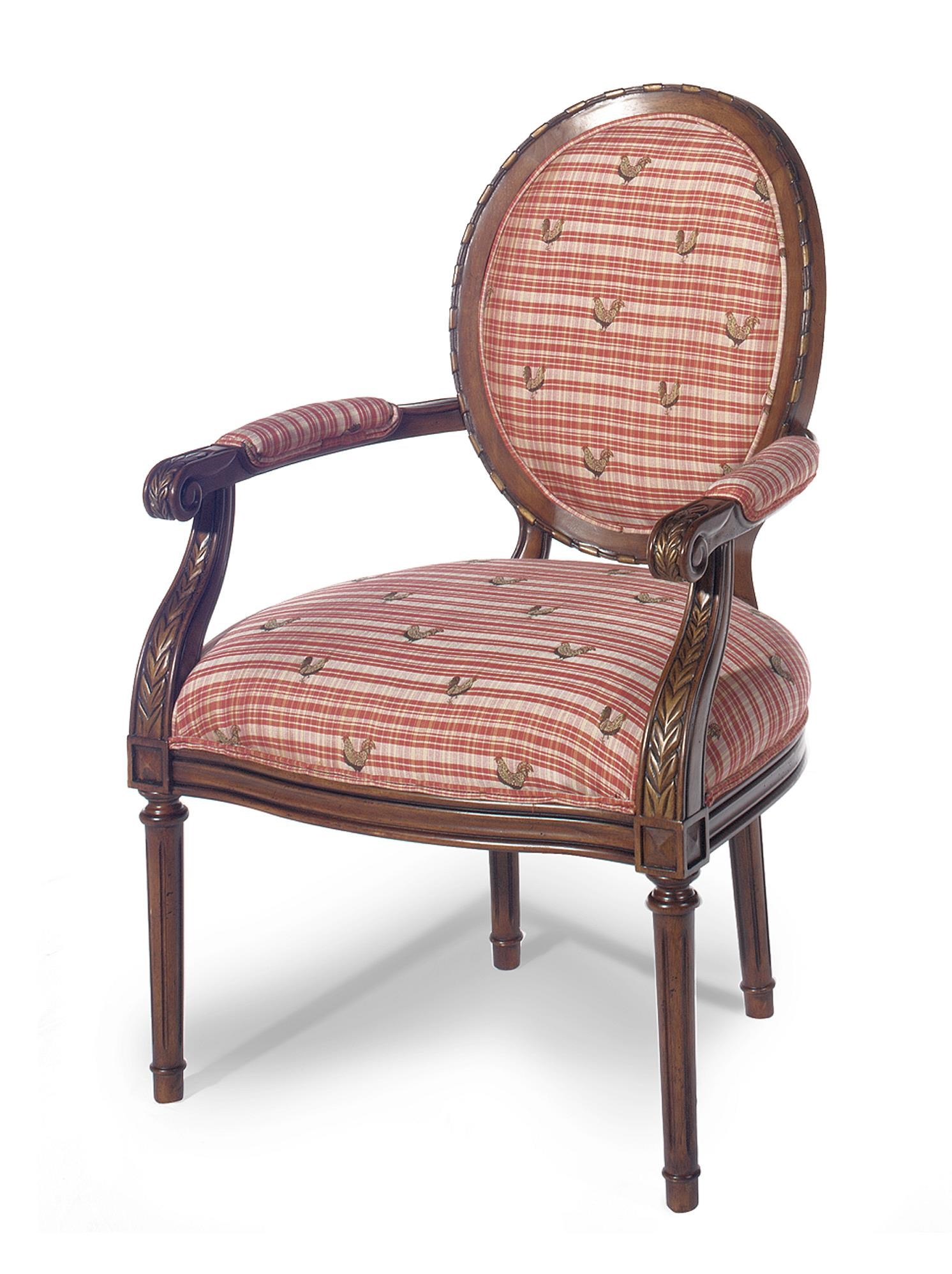 Paula Deen By Craftmaster Paula Deen Upholstered Accents Oval Back Exposed  Wood Chair