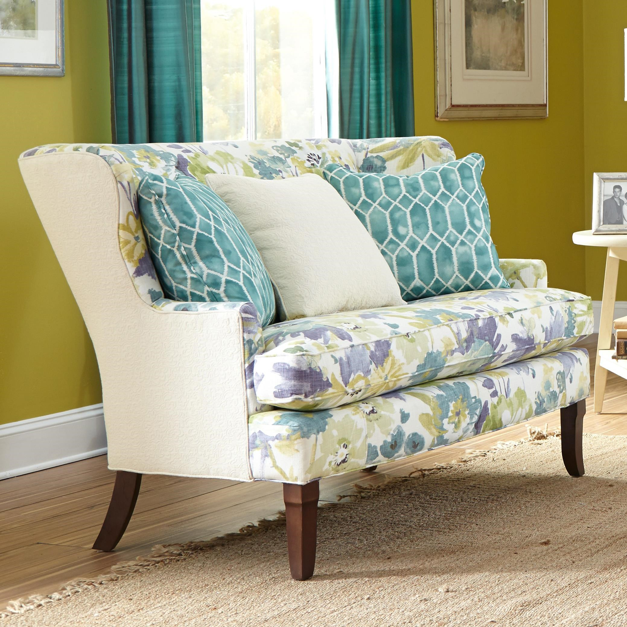 Paula Deen By Craftmaster Paula Deen Upholstered Accents Contemporary  Upholstered Armless Settee