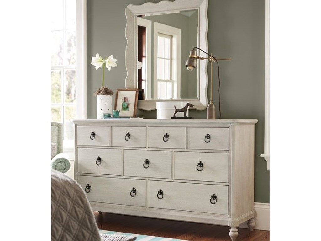 Paula Deen by Universal BlufftonDresser and Mirror