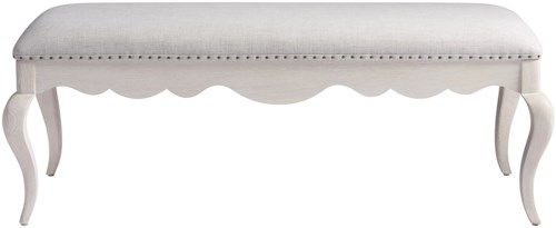 Paula Deen by Universal Bungalow Cottage Bed End Bench with Nail Head Trim