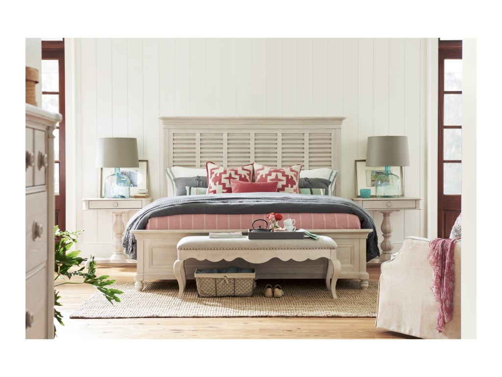 Paula Deen Bluffton Cottage Bed End Bench with Nail Head Trim ...